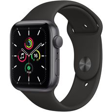 Apple Watch SE GPS 44mm Aluminum Case with Sport Band Grey/Black (LL)