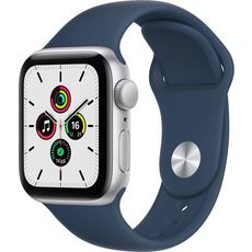 Apple Watch SE GPS 44mm Aluminum Case with Sport Band Silver/White (MYDQ2RU/A)