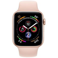 Apple Watch Series 4 GPS 44mm Aluminum Case with Sport Band gold/pink