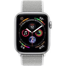 Apple Watch Series 4 GPS 44mm Aluminum Case with Sport Loop silver/white - Цифрус