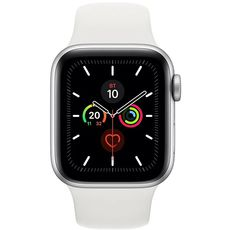 Apple Watch Series 5 GPS 44mm Aluminum Case with Sport Band Silver/withe