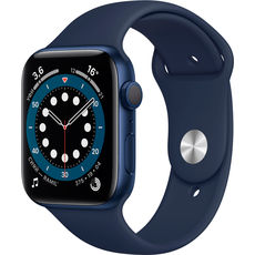 Apple Watch Series 6 GPS 44mm Aluminum Case with Sport Band Blue/Deep Navy (LL)