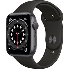 Apple Watch Series 6 GPS 44mm Aluminum Case with Sport Band Space Grey/Black (LL)