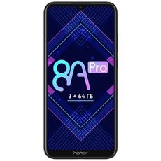 Honor 8A Pro (РСТ) 64Gb+3Gb Dual LTE Black