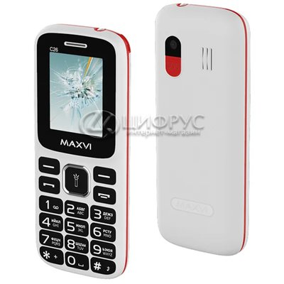 MAXVI C26 White Red (РСТ) - Цифрус