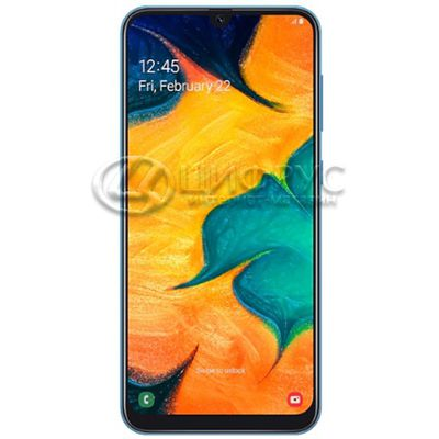 Samsung Galaxy A30 SM-A305F/DS 32Gb Dual LTE Blue (РСТ) - Цифрус